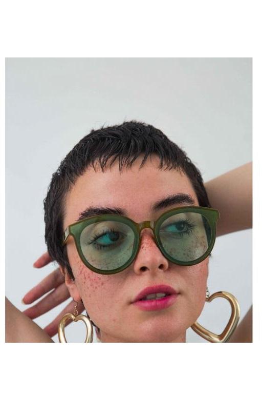 عینک آفتابی زنانه مدل دار برند Bilge Karga رنگ سبز کد ty46225771