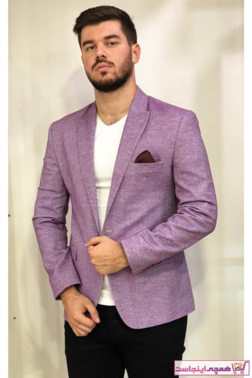 کت تک مردانه ارزان برند AMOR MAN رنگ بنفش کد ty46700818
