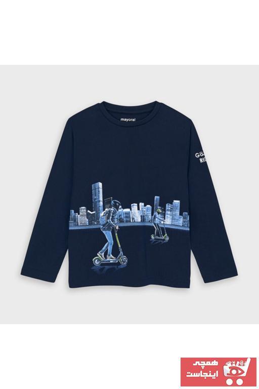 سویشرت پسرانه ساده برند MAYORAL رنگ آبی کد ty46773799