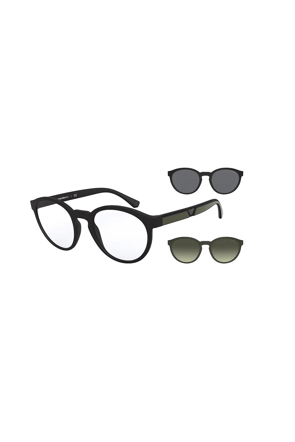 عینک دودی مردانه فانتزی برند امپریو آرمانی رنگ مشکی کد ty46893043