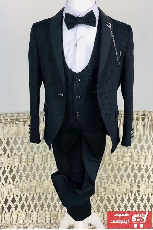 لباس مجلسی پسرانه تابستانی برند Mnk رنگ مشکی کد ty47423042