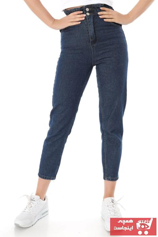 خرید اسان شلوار جین زنانه زیبا برند ZİNCiRMODA رنگ لاجوردی کد ty47485340