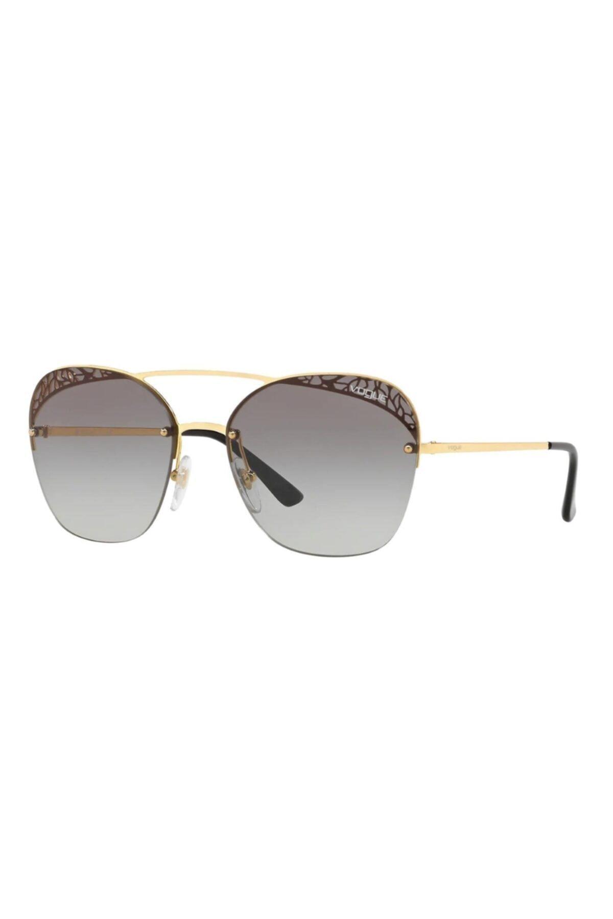 سفارش عینک آفتابی زمستانی زنانه برند Vogue رنگ طلایی ty4780351