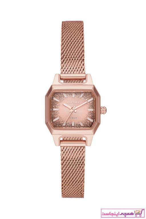 خرید ساعت شیک زنانهاورجینال برند دیزل رنگ صورتی ty48949163