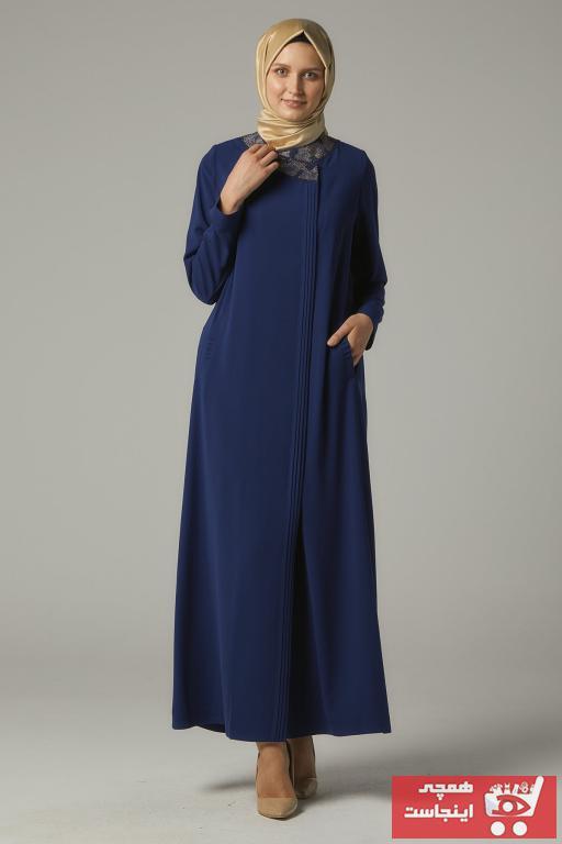 خرید اسان مانتو زنانه اورجینال برند Doque رنگ آبی کد ty49076061