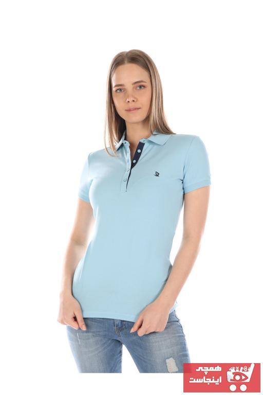 خرید مدل پولوشرت زنانه برند Giorgio Di Mare رنگ آبی کد ty49094097