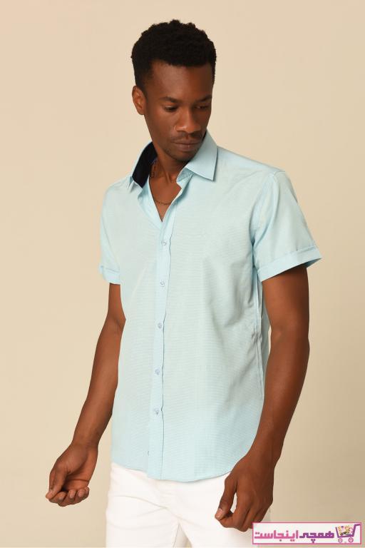 پیراهن مردانه با قیمت برند FABİODİVAYO رنگ فیروزه ای ty49221835