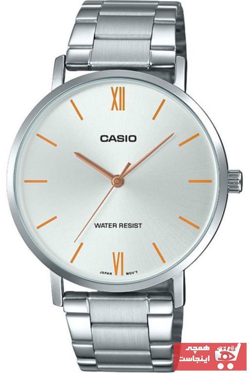خرید انلاین ساعت مچی مردانه لوکس برند کاسیو رنگ نقره ای کد ty4944532