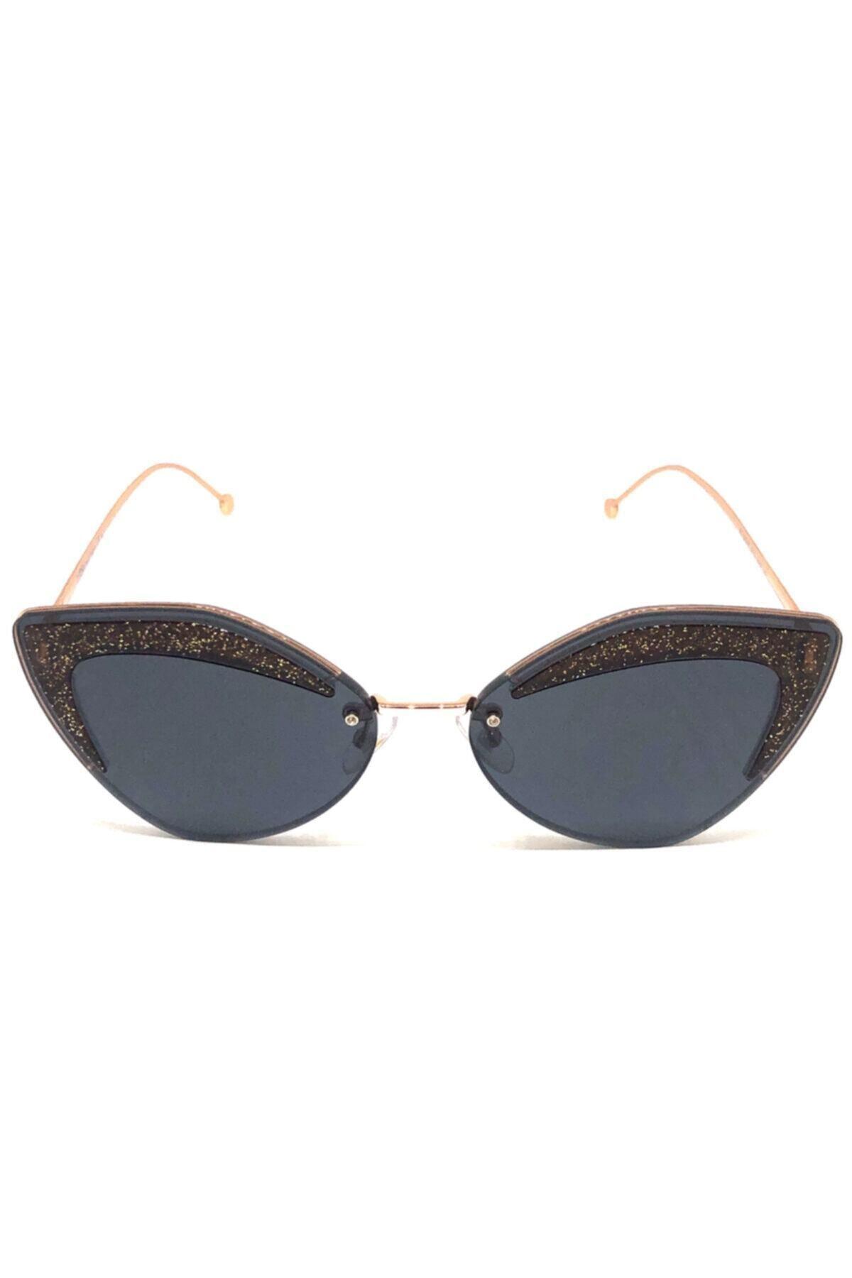 فروش عینک آفتابی زنانه شیک و جدید برند Fendi رنگ متالیک کد ty49653733
