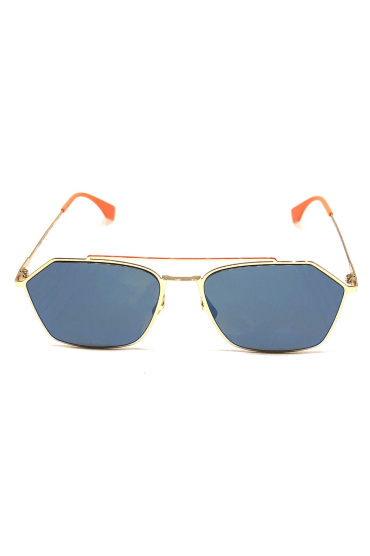 خرید پستی عینک آفتابی زنانه پارچه  برند Fendi رنگ زرد ty49672344