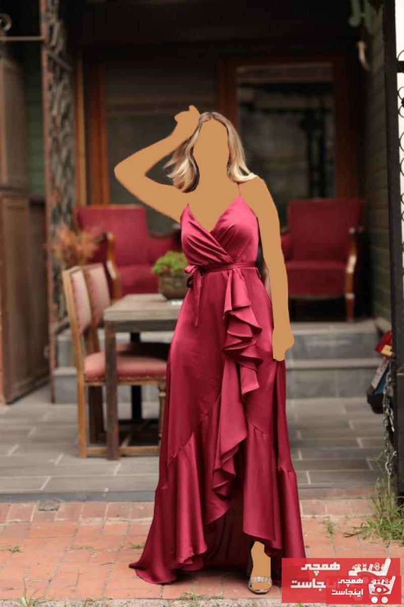 فروش لباس مجلسی جدید برند kıyafetbudur رنگ زرشکی ty49726231