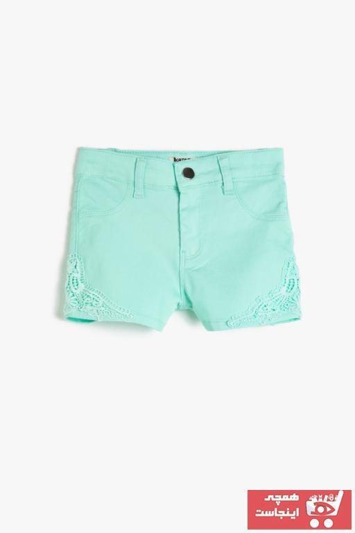 خرید شلوارک دخترانه شیک مجلسی برند Koton Kids رنگ سبز کد ty49927260