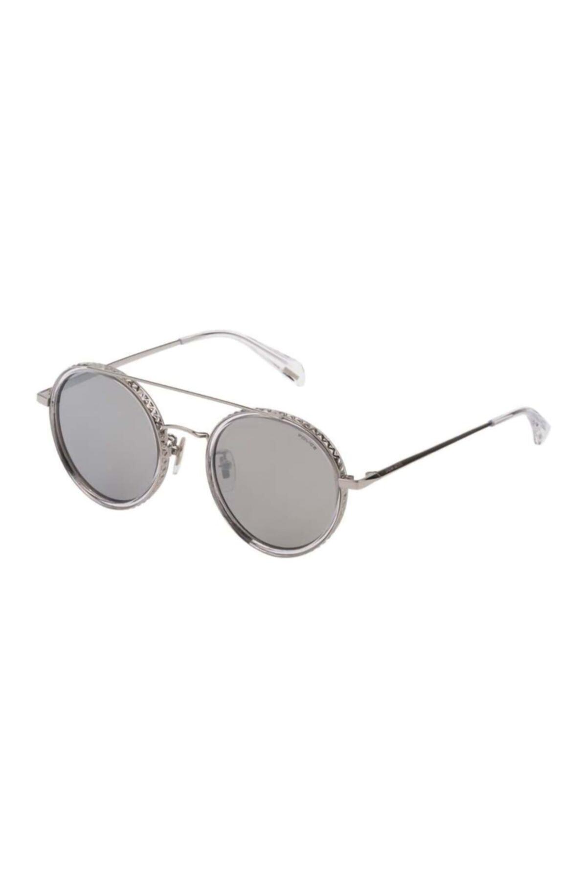 خرید مستقیم عینک آفتابی جدید برند Police رنگ متالیک کد ty50112665