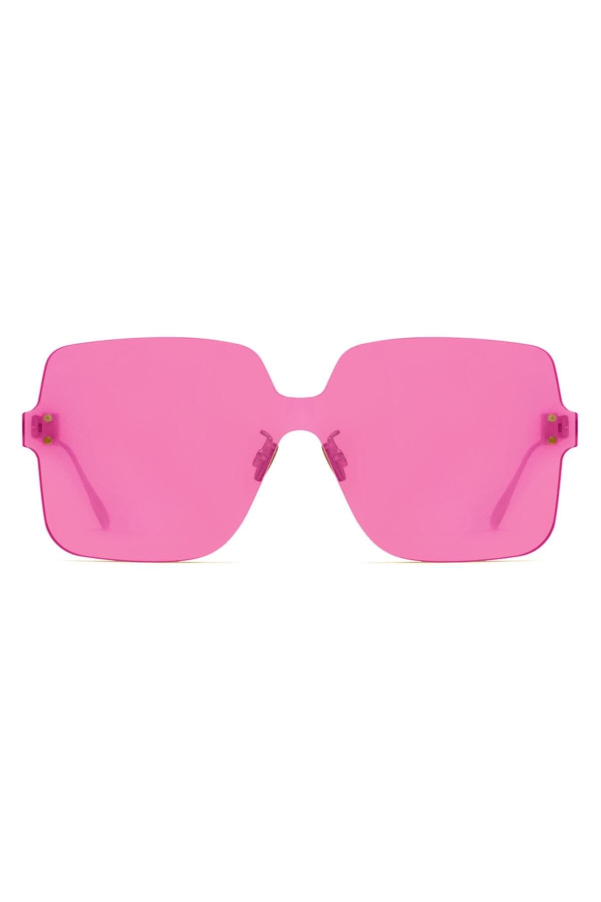 خرید نقدی عینک آفتابی شیک برند Dior رنگ صورتی ty50376330