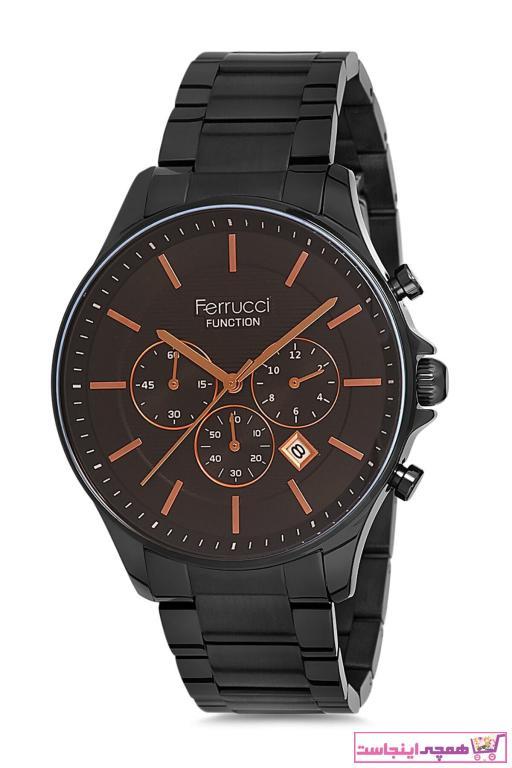 خرید ساعت مچی مردانه اورجینال برند Ferrucci رنگ مشکی کد ty50629483