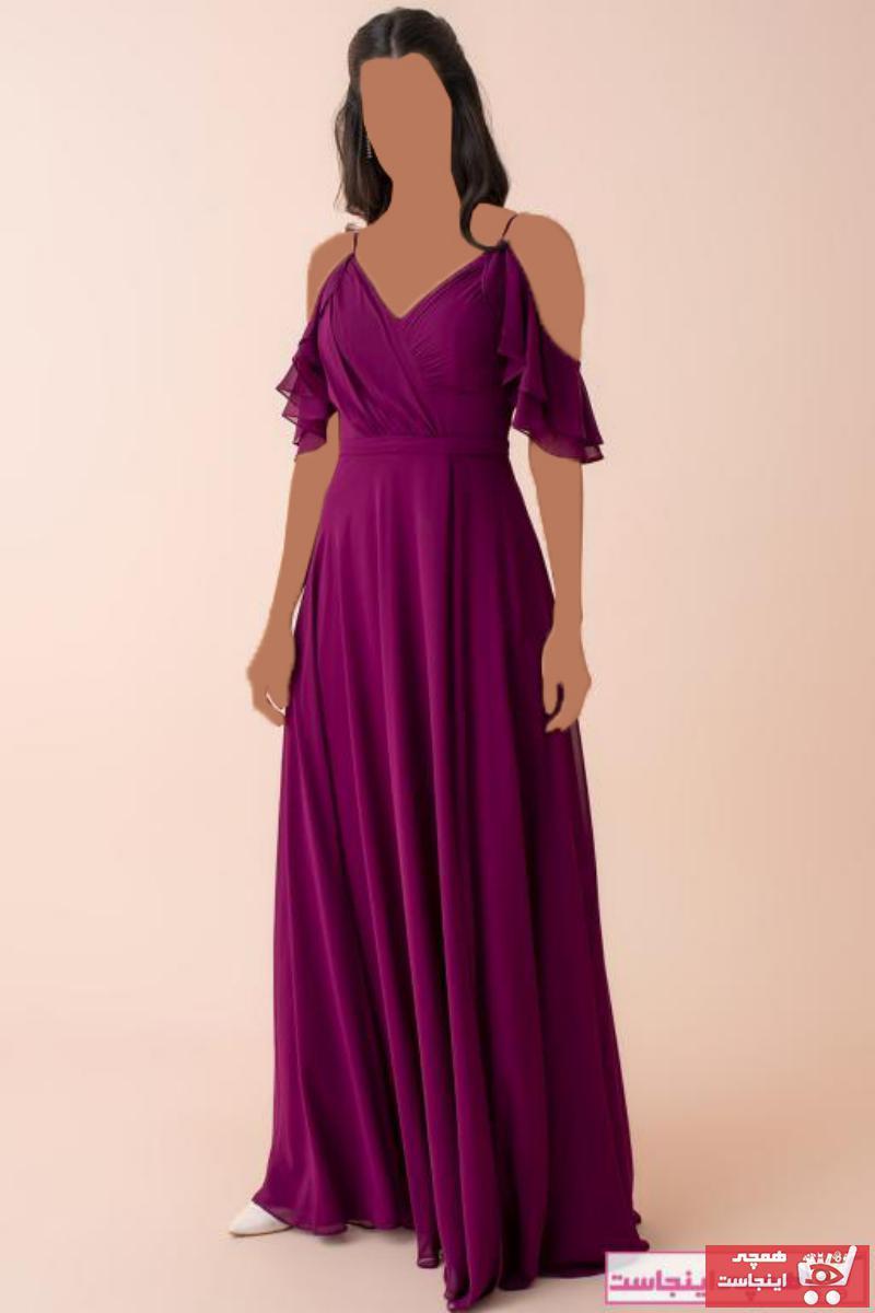 فروش پستی ست لباس مجلسی زنانه برند Ardanewline رنگ بنفش کد ty50801451