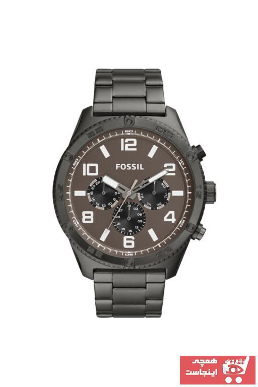 ساعت مردانه ترک مجلسی برند Fossil رنگ نقره ای کد ty52124144