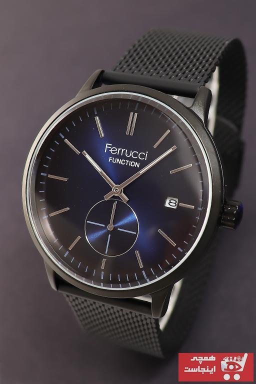 خرید ساعت مچی مردانه ارزان برند Ferrucci رنگ مشکی کد ty52237561