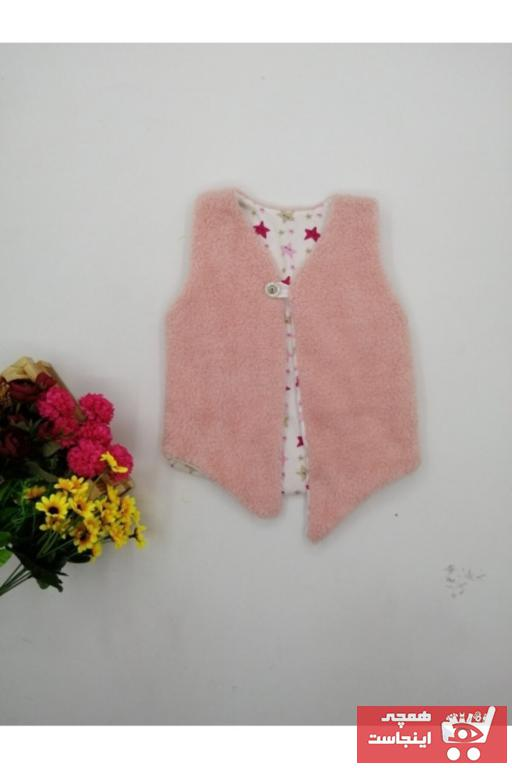جلیقه دخترانه شیک و جدید برند bebesen رنگ صورتی ty52443502