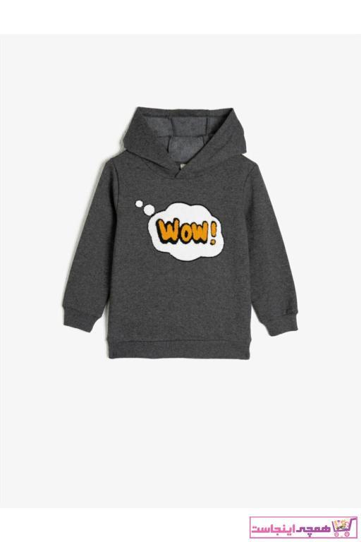 خرید سویشرت بچه گانه برند کوتون رنگ نقره ای کد ty52853227