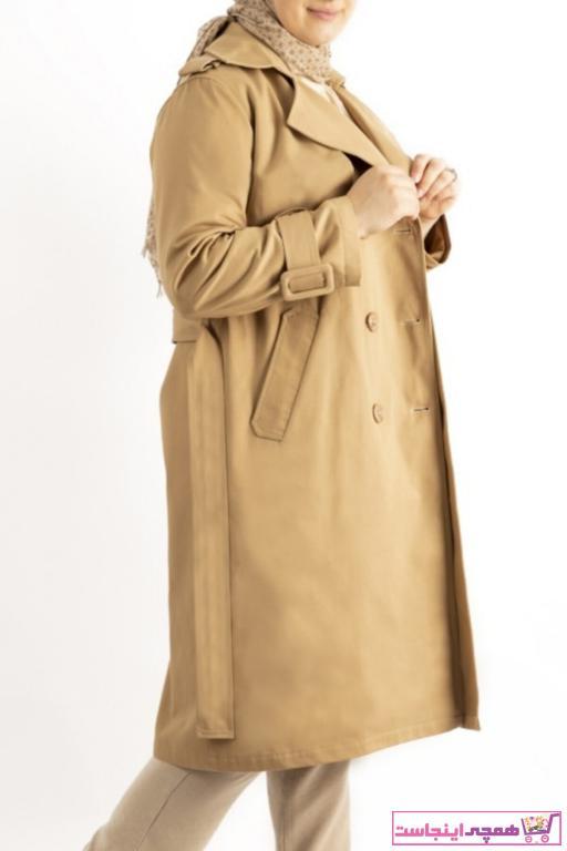 مانتو زمستانی زنانه  برند hoQuspoQus رنگ قهوه ای کد ty53702811
