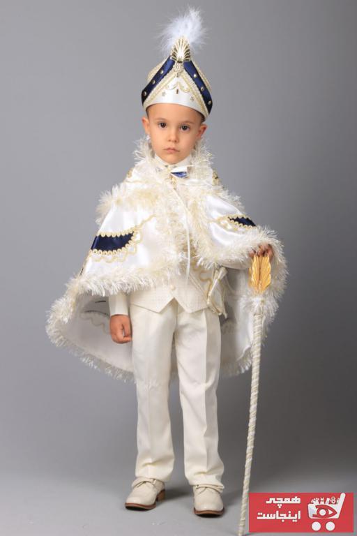 فروش انلاین لباس خاص بچه گانه مجلسی برند Osmanlı Sünnet Kıyafetleri رنگ بژ کد ty54705887