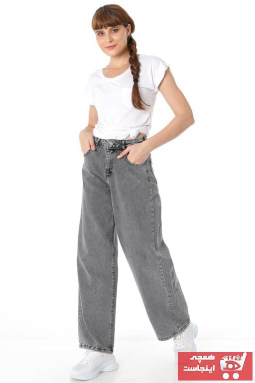 فروش پستی ست شلوار جین زنانه برند ZİNCiRMODA رنگ نقره ای کد ty54866006