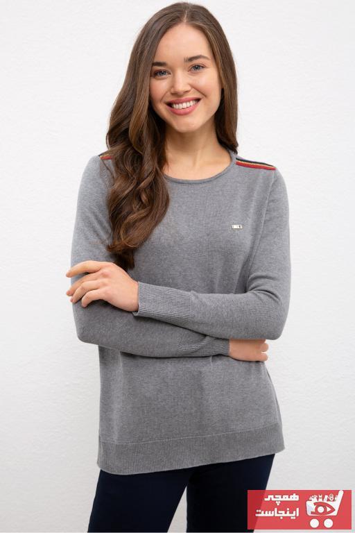 پلیور زنانه مدل یو اس پولو رنگ نقره ای کد ty55294310