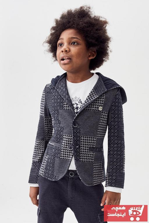 خرید اینترنتی ژاکت بچه گانه فانتزی برند Nebbati رنگ نقره ای کد ty55414328