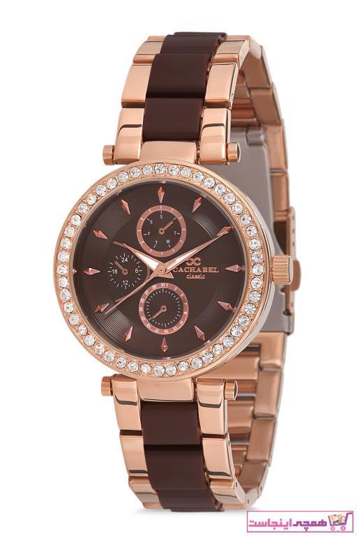 خرید ساعت مچی زنانه لوکس ارزان برند Cacharel رنگ قهوه ای کد ty55477713