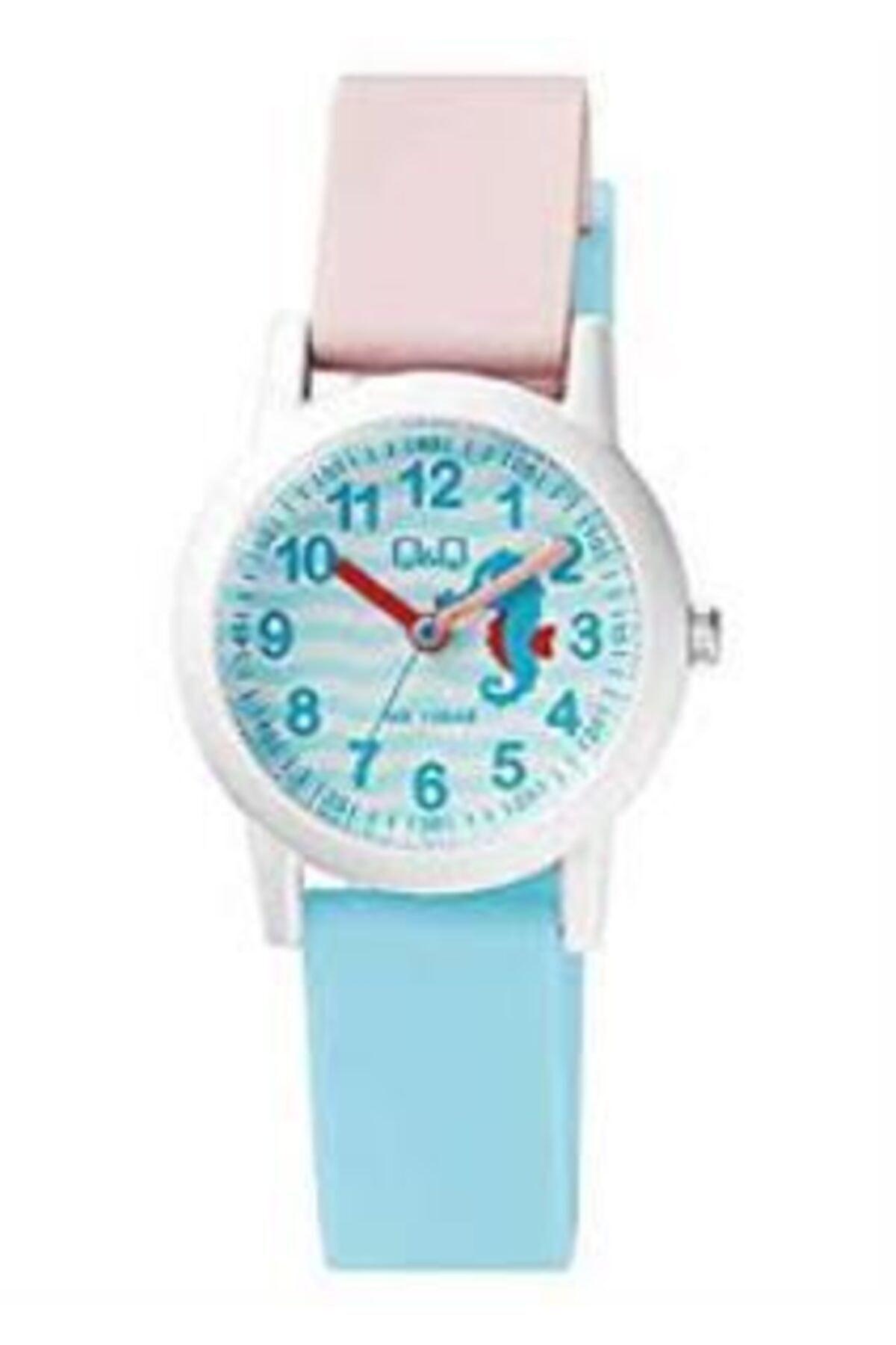 خرید ارزان ساعت دخترانه فانتزی برند Q&Q رنگ صورتی ty55873709
