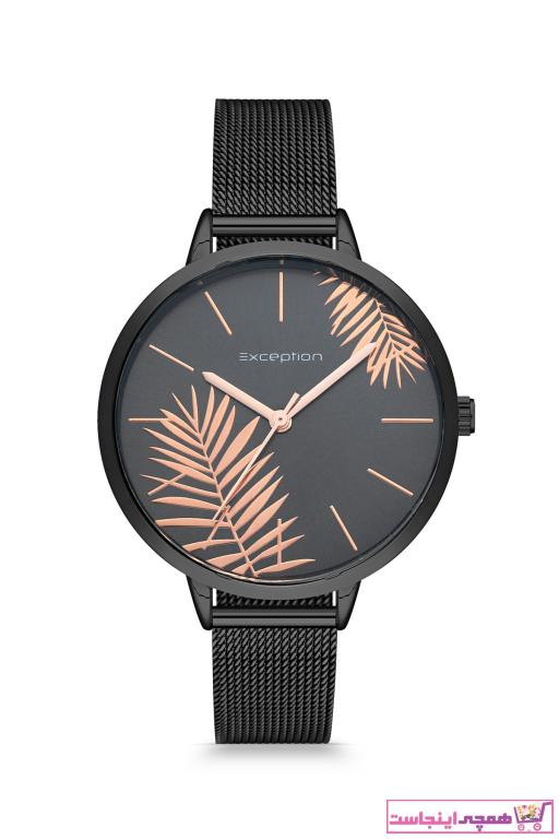 خرید ساعت شیک زنانهجدید برند Exception رنگ مشکی کد ty56657750