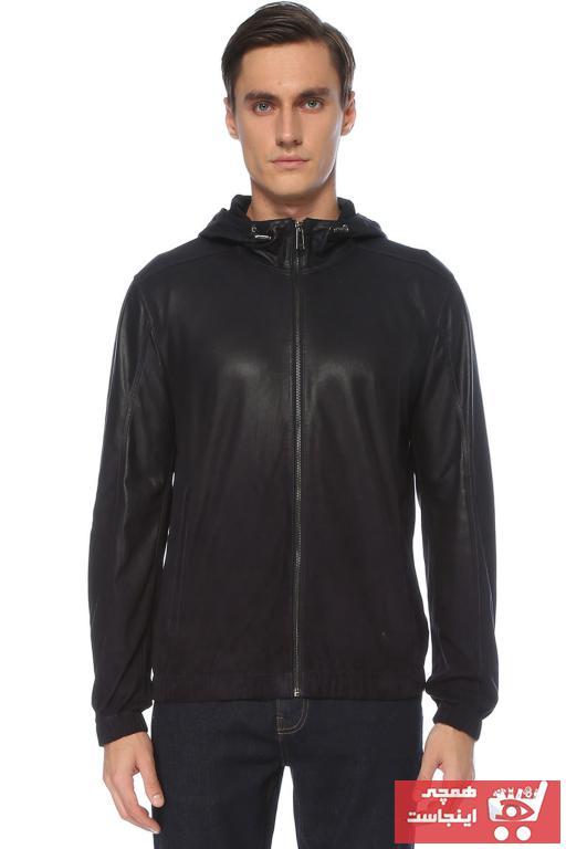 خرید اسان کاپشن چرم مردانه زیبا برند Network رنگ لاجوردی کد ty56989408