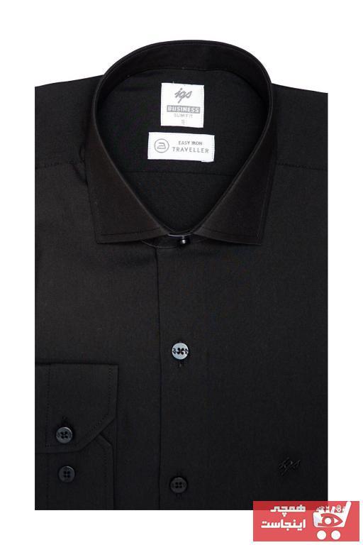فروش پستی پیراهن کلاسیک مردانه شیک جدید برند İgs رنگ مشکی کد ty57183019