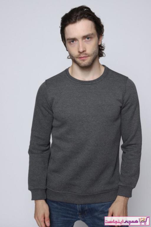 خرید سویشرت مردانه شیک مجلسی برند modazzi رنگ نقره ای کد ty57218052