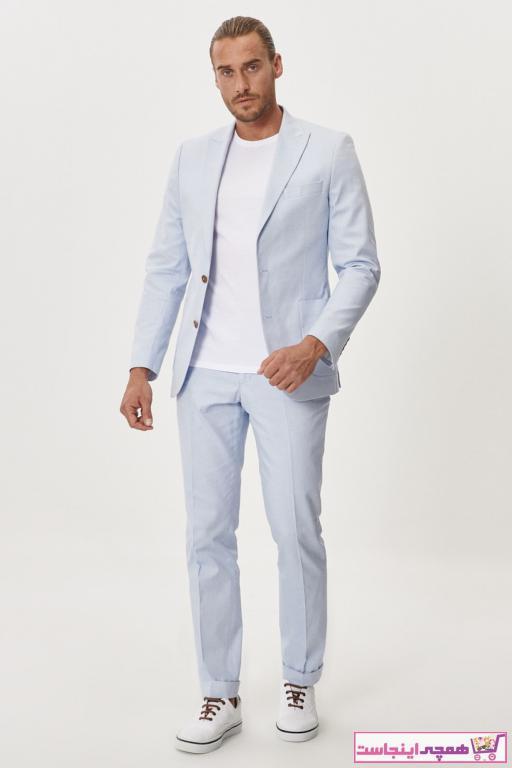 خرید پستی کت شلوار اصل مردانه برند ALTINYILDIZ CLASSICS رنگ آبی کد ty5746971