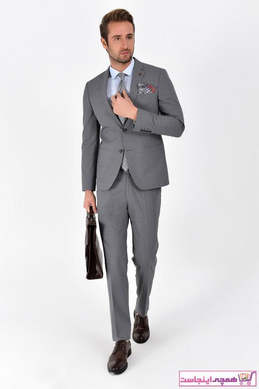کت شلوار مردانه برند Centone رنگ نقره ای کد ty5776093