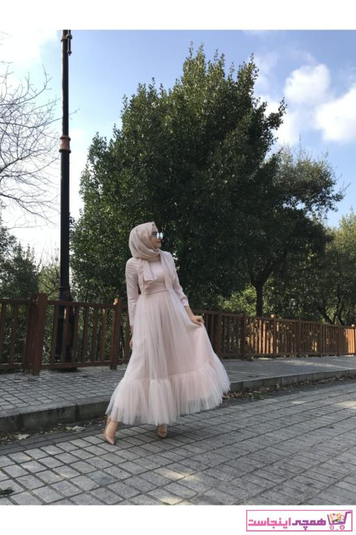 لباس مجلسی فانتزی زنانه برند Binbir Atölye رنگ صورتی ty58290680
