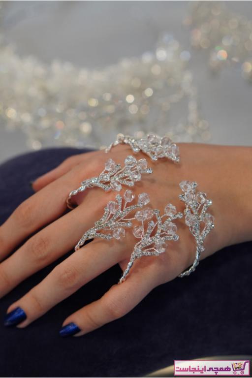 دستبند انگشتی زیبا زنانه برند Hoşbirader رنگ نقره کد ty58573279