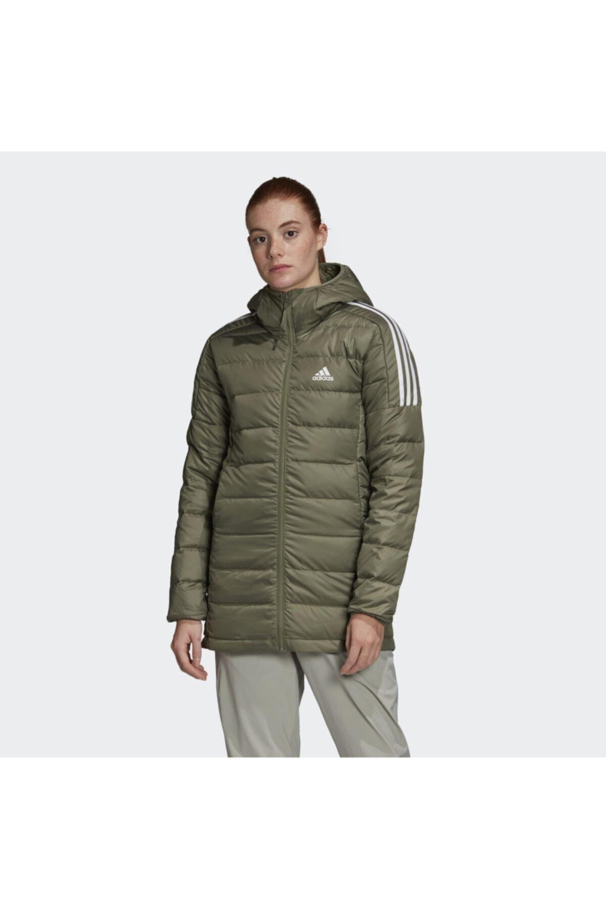 خرید انلاین کاپشن ورزشی مردانه طرح دار برند adidas رنگ سبز کد ty58834485