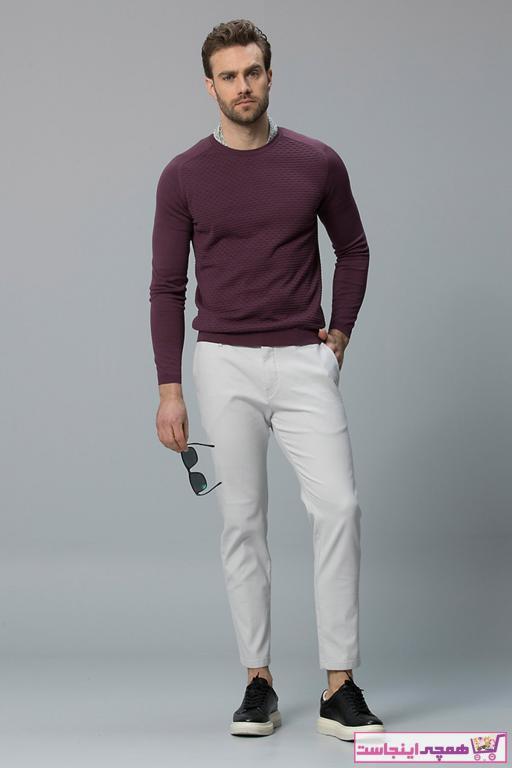 شلوار مردانه مجلسی Lufian رنگ نقره ای کد ty5911794