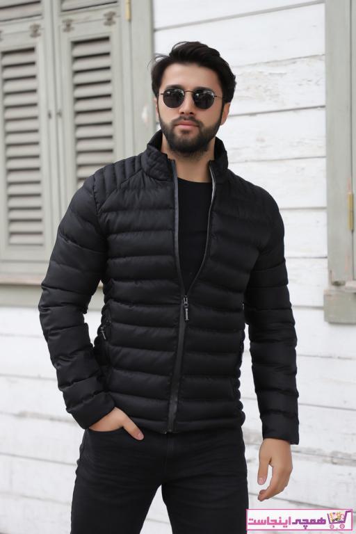 خرید اسان کاپشن مردانه زیبا برند Weyeze رنگ مشکی کد ty59300873
