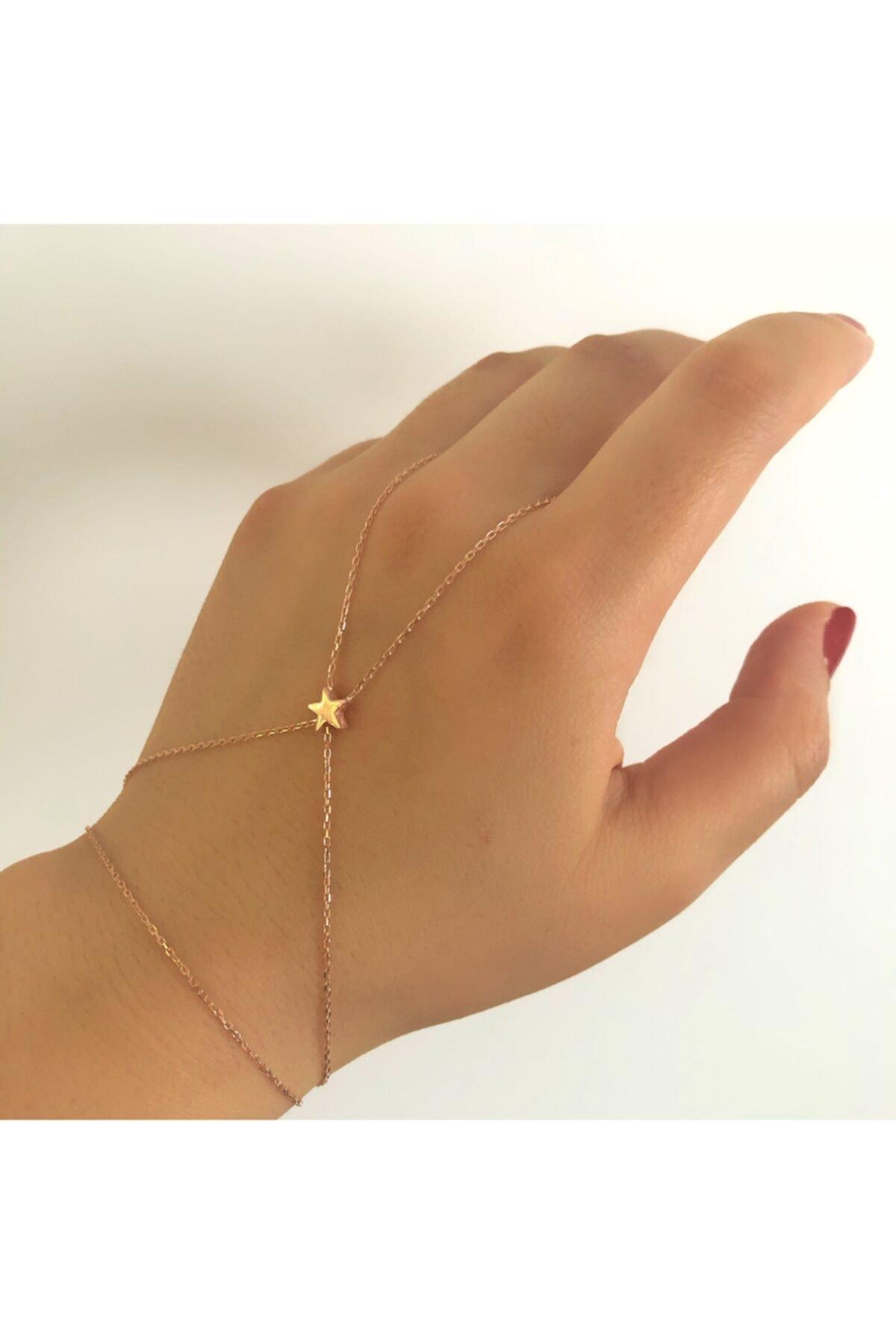 خرید دستبند انگشتی زنانه شیک برند SİLVEROFMATMAZEL رنگ صورتی ty61854187