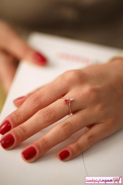 حلقه ارزان زنانه برند İzla Design رنگ صورتی ty6256044