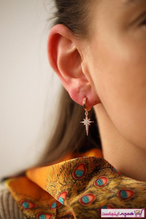 خرید گوشواره زنانه برند İzla Design رنگ صورتی ty6256086