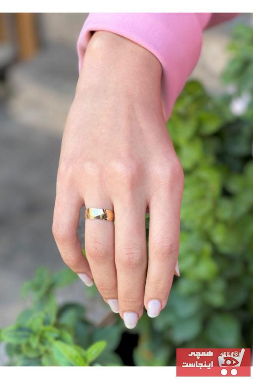 فروشگاه انگشتر طلا زنانه تابستانی برند Bayar Gold رنگ زرد ty62842417