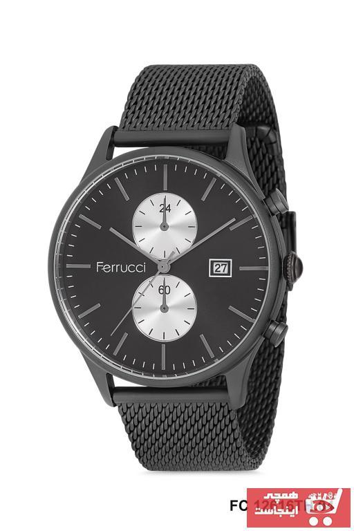 خرید پستی ساعت مردانه 2021 برند Ferrucci رنگ مشکی کد ty62877949