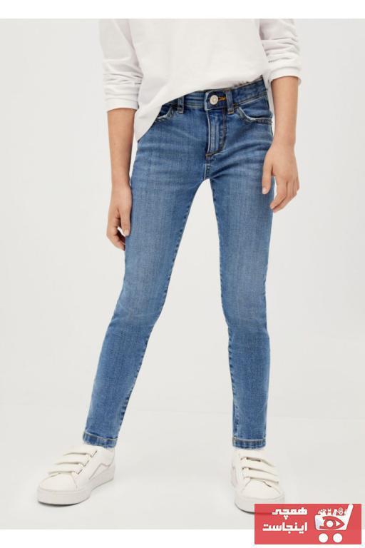 فروش شلوار لی بچه گانه دخترانه جدید برند منگو رنگ لاجوردی کد ty63050336