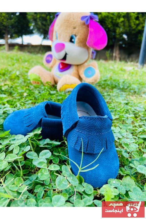 کفش تخت نوزاد پسر ترک برند Blacktavern رنگ آبی کد ty63063858