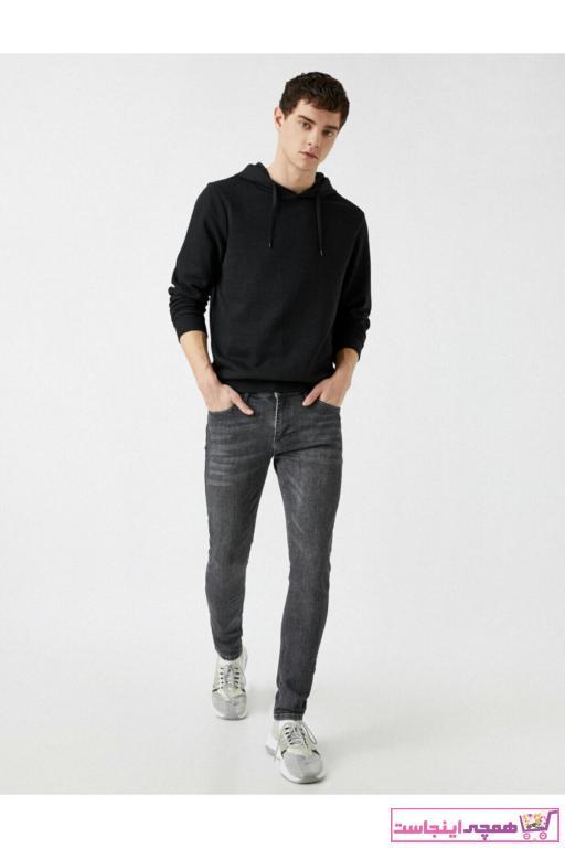 شلوار جین ارزان برند کوتون رنگ نقره ای کد ty63239263